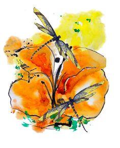 New Life Dragonfly Painting by Marilyn Jonas by MarilynKJonas