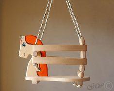 Cheval à la main en bois Swing, Balancoire enfant, fait main enfants jouets Z301