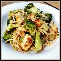 Lemon Pasta with Chicken and Broccoli - fast and easy go-to weeknight dinner idea.