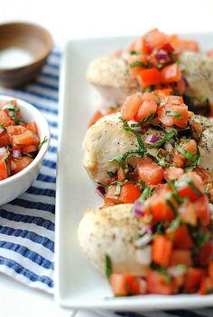 Healthy Bruschetta Chicken | Eat Yourself Skinny