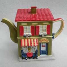 Decorative-TEAPOT-Tea-Pot-FIGURAL-BISTRO-CAFE-House