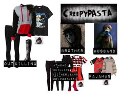 """me as a: 'creepypasta'"" by j-j-fandoms ❤ liked on Polyvore featuring Citizens of Humanity, Frame, H&M, Zutoq, Joseph and Converse"