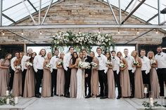 Taupe Wedding, Neutral Wedding Colors, Winter Wedding Colors, Dream Wedding, Garden Wedding, Neutral Bridesmaid Dresses, Bridesmaids And Groomsmen, Wedding Bridesmaids, Wedding Dresses