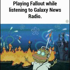 Playing Fallout while listening to Galaxy News Radio #fallout #kurttasche