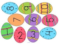 ***FREE*** Mini-Center: Match Easter Egg numbers with sets of chicks – cut out the eggs, cover the correct set with the egg. 1-10