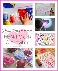Here's a wonderful resource of Preschool Heart Crafts & Learning Activities. Your preschooler will love these heart inspired ideas! Preschool Craft Activities, Valentines Day Activities, Valentine Crafts, Holiday Crafts, Preschool Shapes, Shape Activities, Valentine Ideas, Wacky Holidays, Holidays With Kids