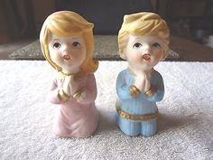 "Vintage Homco # 5211 Set Little Girl & Boy Kneeling Praying "" BEAUTIFUL SET "" #vintage #collectibles #ceramics #home"