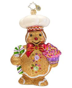 Christopher Radko Christmas Ornament, Ginger Baker - Holiday Lane - Macy's