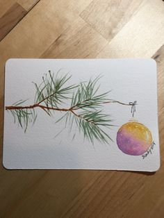 Painted Christmas Cards, Watercolor Christmas Cards, Christmas Drawing, Diy Christmas Cards, Christmas Paintings, Xmas Cards, Christmas Art, Handmade Christmas, Holiday Cards
