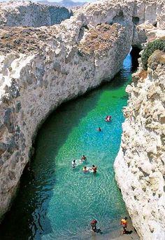 Papafragas Beach ,Milos Island, Greece