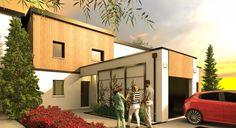 Votre maison design AURYS de 90 m² habitables à toit monopente par Habitat Plus