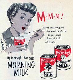 Morning Milk - vintage ad.