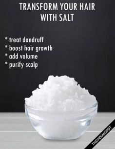 SALT BENEFITS AND USES FOR HAIR