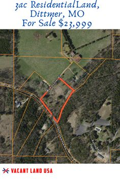 Picturesque Residential Land For Sale, Dittmer Missouri - Vacant Land USA House Ladder, Investing In Land, Safe Investments, Residential Land, Vacant Land, Little Cabin, Build Your Dream Home, Renting, Land For Sale