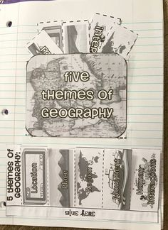 Teel's Treats : 5 Themes of Geography Interactive Notebook Foldables