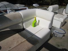 Mold Armor - wonderful product that cleaned our boats groady seats without scrubbing - Love it! I wonder if it really works. Pontoon Boat Seats, Pontoon Stuff, Boat Cleaning, Cleaning Mold, Cleaning Tips, Cleaning Supplies, Party Barge, Architecture Design, Boating Tips