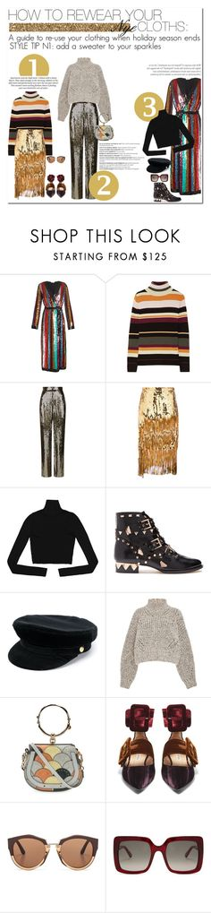 """how to rewear your nye cloths: STYLE TIP N1"" by esterp ❤ liked on Polyvore featuring Balmain, Attico, Paul & Joe, Alice + Olivia, Rochas, Sophia Webster, Manokhi, Isabel Marant, Chloé and Marni"