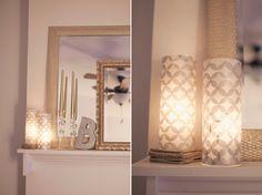 DIY Glass & tissue paper vases