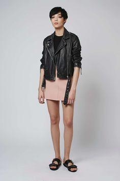 Crepe Pocket Mini Skirt