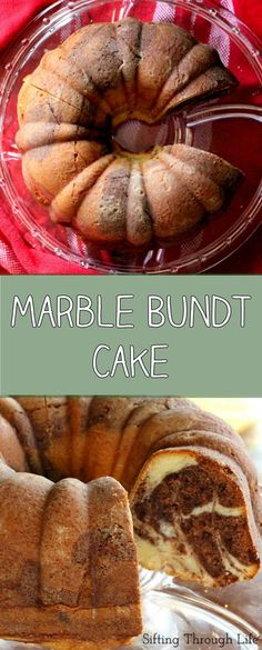 This Marble Bundt Cake is incredibly moist with a rich swirl of chocolate throughout!