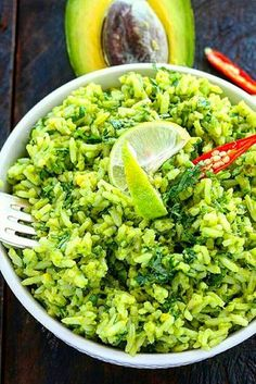 Avocado-Reis hört sich nicht nur lecker an, sondern ist auch noch super gesund . Avocado rice not only sounds delicious but is also super healthy A. Low Cab Recipes, Clean Recipes, Veggie Recipes, Diet Recipes, Vegetarian Recipes, Healthy Recipes, Avocado Recipes, Smoothie Recipes, Easy Recipes
