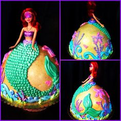 Little Mermaid doll cake by Iris Candelaria