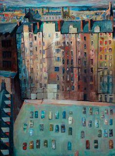Greenside Tenements (Edinburgh Lands) - Philip Bethune Hutton  FÍJATE COMO ESTA TODO EN PRIMER PLANO
