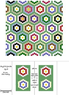 Quilts and Wallpapers from Dollhouse Miniature Printables