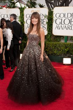 beautiful dress! -- olivia wilde in marchesa @ the 2011 golden globes