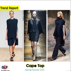 Cape Top Trend for Spring Summer 2015. Esteban Cortazar, Lanvin, The Row #Spring2015 #SS15