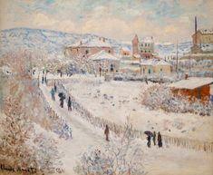 Claude Monet, View of Argenteuil, Snow, 1874-75, source