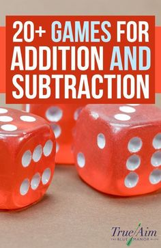 Math Games: 20+ Addition and Subtraction Games for Elementary