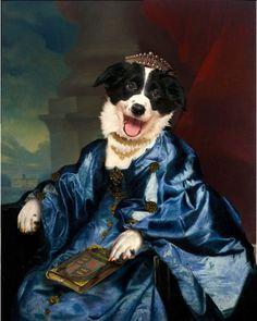 Pet Portrait by Valerie Leonard, collection 1, Border Collie.