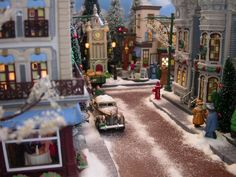 Tips on How to Wrap the Perfect Christmas Present Diy Christmas Village Displays, Department 56 Christmas Village, Lemax Christmas Village, Lemax Village, Christmas Villages, Outdoor Christmas Decorations, Christmas In The City, Christmas Town, Christmas Diy