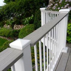 200 Series Flat Top Aluminum Railing by Afco - Textured White Deck Railing Kits, Metal Deck Railing, Railing Ideas, Decking Ideas, Porches, White Deck, Aluminum Decking, Patio Deck Designs, Deck Colors