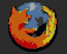 Firefox Lego Mapped by drsparc on DeviantArt