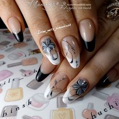 Trendy gel manicure tutorial french tips Ideas Bright Nail Designs, Square Nail Designs, Gel Nail Designs, Cute Nails, Pretty Nails, Luxury Nails, French Tip Nails, Square Nails, Fabulous Nails