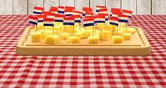 Typical Party Platter in Holland Cheese cubes (with musterd)