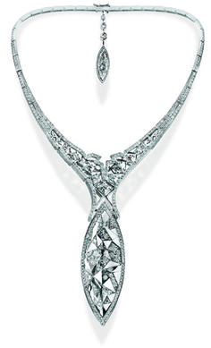 Rio Tinto Global Design Winner Reena Ahluwalia's Canoe diamond necklace