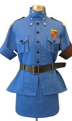 Vicwin-One Hellsing Seras Victoria Blue Uniform Cosplay Costume * Click image for more details.