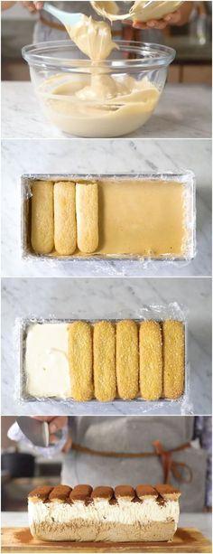 "TORTA MAIS BARATA E MAIS GOSTOSA QUE JA COMI, ""Torta de Sorvete Tiramisù"" CONFIRA! #doce #doces #sobremesa #sobremesas #torta #tortas"