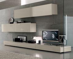 . Living Room Tv Cabinet, Living Room Wall Units, Living Room Shelves, Living Room Modern, Living Room Interior, Home Living Room, Living Room Designs, Tv Cabinet Design, Muebles Living