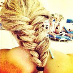 Thick hair. Fishtail Braid. #braid #hair