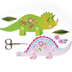 Dinosaur Friends is a set of 4 DIY articulated paper dolls. Rosie Brontosaurus, Lilly Triceratops, Daisy Hadrosaurus and Blossom Tyrannosaurus Rex measure from 8 to 13 inches, with moveable legs, arms, heads and tails. Cut, assemble and create your own prehistoric magic. Perfect for craft for a dinosaur party, great for framing or hanging or cake toppers, let your imagination lead the way! This is an INSTANT DOWNLOAD, so no waiting! After your payment successfully processes, you will…