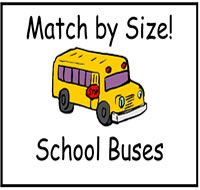 Match by Size Buses File Folder Game
