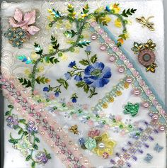 Floral Crazy Quilt Block 3