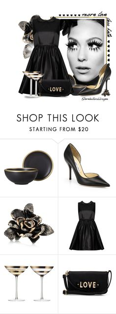 """""""Elegance"""" by stormbattereddragon ❤ liked on Polyvore featuring Threshold, Once Upon a Time, Jimmy Choo, Roberto Cavalli, Alice + Olivia, LSA International and 2b bebe"""
