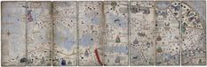 Eight pages of the Abraham Cresques Catalan Atlas 1375.