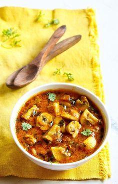 methi mushroom recipe, how to make methi mushroom restaurant style (fenugreek)