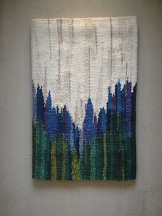 small tapestry - irises. Great inspiration for a small tapestry on a Mirrix loom. http://www.mirrixlooms.com/